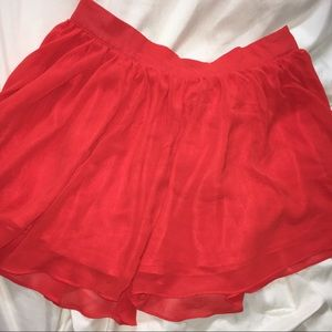 Burnt orange chiffon skirt
